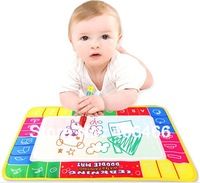 New 4 Color KidsToy Gift Water Drawing with Magic Pen Aqua Writing Painting Doodle Board Mat For 29x19cm free shipping