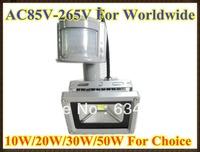 240V 10W/20W/30W/50W PIR LED Flood light White Warm Floodlight Motion Sensor A85V-265V LW42