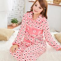 Autumn and winter 100% cotton thickening modern velvet sexy female personality winter sleepwear