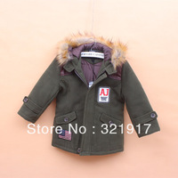 New Arrival Free Shipping 5pcs/lot  Newest Fashion Baby Boy Winter Overcoat Kids Winter Outfits Kids Winter Costumes 2Colors2200