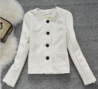 women's 2013 autumn small all-match wool short design woolen outerwear
