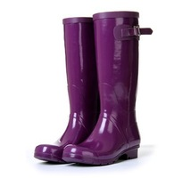 Free shipping Candy color crystal high women's rain boots rainboots riding boots removable ankle sock