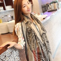 Autumn and winter female cotton ultra long big cape bali yarn hallucinogenic focuses on the little deer scarf