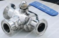 2'' stainless steel 304 Three-way ball valve ,ball valve/clamped ball valve/ sanitary ball valve