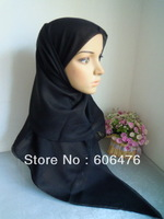 mu1395 wholesale solid color muslim square scarf shawl fashion color voile bandana mix colors in one lot islamic hijab