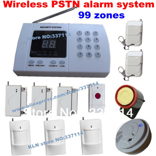 99 zone auto wireless home alarm system for house security, easy & cheap alarmas, DHL free shipping(