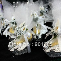 2013 New Arrival Lily Silver Swan Candy Box Wedding Favor