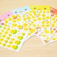 40pcs/lots Duck big crystal epoxy decoration stickers mobile phone stickers 6 10g