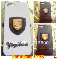 Luxury 3D Paladin Shield Design Case Cover For iPhone 5 5G 5S Leather Skin Coated Hard Plastic Cases