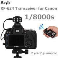 Meyin RF-624 transceiver 1/8000s wireless TTL flash trigger for Canon 5D3 5D2 70D 7D 6D 60D 1100D 1000D 650D 600D 550D 700D 1D