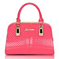 Japanned leather women's handbag 2012 Women bag small handbag embossed bag fashion red small bag bridal bag marry bag