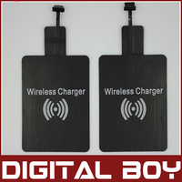 2014 Universal Qi Wireless Charger Receiver for Samsung HTC LG Wireless Charging All micro 5pin slot mobile phone Free Shipping