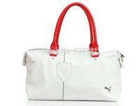 2013 New Women Bags PU Free Shipping Fashion Brand Sport Bag Shoulder Messenger Bag Cylinder Gym Totes