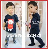 2014 new Baby 100% cotton thickening pantyhose legging pants baby big PP 100% loop pile cotton thermal pants