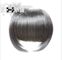 Qi oblique bangs wig wig piece