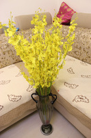 Kingart  Free shipping orchid Home decoration artificial Oncidium flowers dried flowers silk flower artificial flower