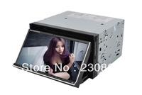 6.95'' 2 DIN Slide down Panel Car DVD Player Built-in GPS Radio TV DVD Buletooth Phone Book Radio USB/SD WIFI/3G