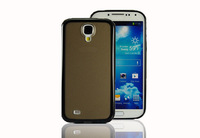 TPU + PC double-color case for samsung S4 9500 9508 frosted protection shell-black
