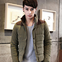 2013 autumn and winter stand collar wadded jacket fashionable casual male slim men's clothing cotton-padded jacket outerwear