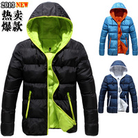 Cotton-padded jacket slim casual male with a hood wadded jacket male winter thickening outerwear men's clothing cotton-padded