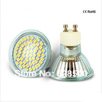 Free shipping 6piece/lot 4W GU10 SMD 3528 60pcs LED white/Warm White Spot Light Bulb Lamp Energy Saving