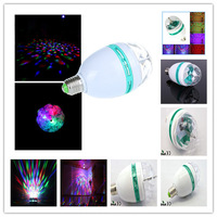 20pcs FEDEX 3W LED E27 RGB Bulb DJ Stage Light Disco Light Crystal Ball RGB E27 LED Bulb Colorful Rotating Stage Christmas Party