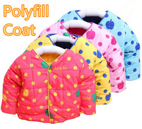 LQF2, 1pc/lot, Baby Children coat, Apple long sleeve polyfill coat.