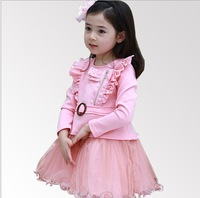Retail Girl's Formal Gowns/Girl's Pageant Party Dresses/Children's Long Sleeve TUTU Girl's Dress/Girl's Party Dress