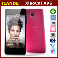 Xiaocai X9 MTK6589 Quad core Cell phone 4.5 inch Android 4.2 QHD Screen 960x540Pixels 3G WCDMA 1GB AM 4GB ROM 8MP Camera-Red