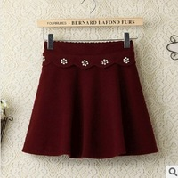 2013 Hot Sex Lace Peral Floral Decorate Women Skirt High Waisted Short Mini Skirts 3 Colors For Choose