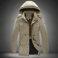 Cotton-padded jacket male outerwear medium-long casual thickening wadded jacket outerwear men's clothing plus size cotton-padded