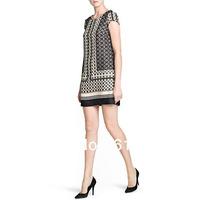 Dress Women ZA**  Fashion Retro Vintage Paisley Print Dress Floral Loose Short Sleeve Dress SX11294