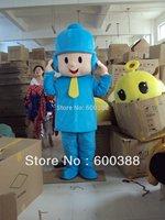 New pocoyo costume adult plush mascot costume dora elmo barney doraemon kitty cartoon character costumes party