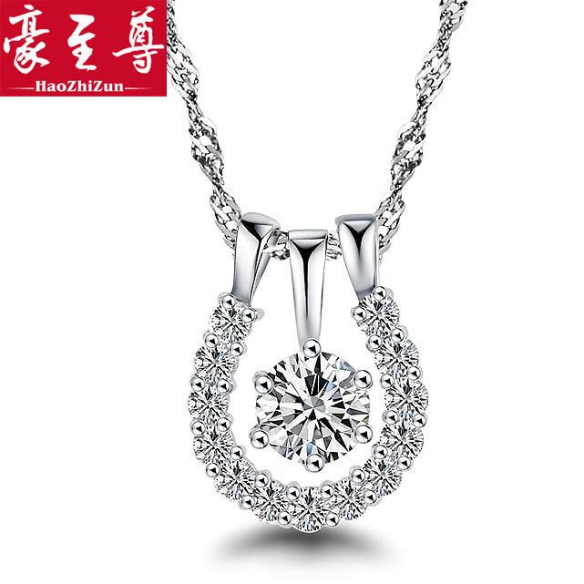 Silver 925 pure silver necklace female short design chain fashion marriage donuts