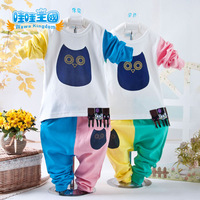 2013 children's clothing autumn male female child baby clothes baby clothes long-sleeve winter owl child set