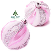 Christmas 1 bag quality 6 pink christmas ball matt ball plated ball christmas tree decoration