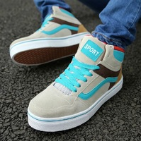 2014 New Arrival High Men's Casual Canvas shoes British style Man Skateboarding Shoes sneakers for men Running Shoes 39-44