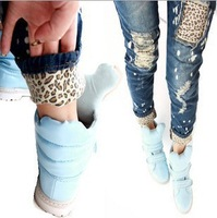 2012 New Fashion Women Leopard Slim Pencil Jeans Hot Selling Pants Trousers High Waist Jeans S M L XL XXL L997