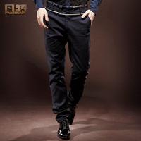 Royal wind romantic men's clothing fashion high waist straight trousers male slim  banquet