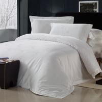 Home textile bedding set white piece cotton 100% cotton satin jacquard bed sheets duvet cover double single