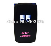 5 Pins SPST ON/OFF SPOT LIGHT LED LIGHTS ROCKER SWITCH FOR GMC Dodge Jeep, Free shipping