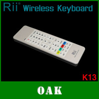 Free Shipping - Original Rii RT-MWK13 i13 2.4G Mini Wireless Keyboard Air Fly Mouse for Android TV Box/IPTV/Tablet White Color