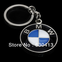 32*4Blue White key chain Car Logo Emblem/auto front hood emblem/car head sticker for car metal keychain /key rings wholesale