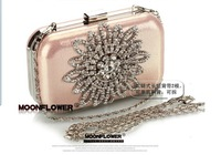 2013 Luxury Day Clutch For Lady Diamond Evening Bags Classic Rhinestone Recommend for Everyone Gold/Silver/Black pink z002