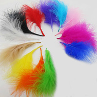 Wholesale 100pcs/Lot soft Turkey Marabou Feathers washed goose down 8-16cm Fluffy Dress/jewelry/Christmas/hat wedding decoration