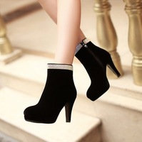 Free Shipping fashion female lady high heels dress boots shoes platforms shoes Euro Size 34-39, N3820478x130
