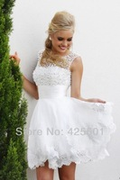 Elegant Cap Sleeves Open Back Lace Short Birthday Party Dresses For Women Homecoming Cocktail Dresses 2013 New Arrival