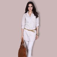 New Arrival 2014 Spring Plus Size XXXL Long-sleeve Shirt Fashion Elegant Loose Shirts Big size Long-sleeve T-shirts XL XXL XXXL