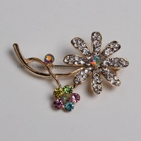"(12pcs /lot ) FABULOUS VINTAGE 1950s ""VIOLETS"" BROOCH FROM THE FLOWER RANGE BY EXQUISITE"