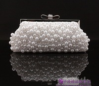 New Design! party bags,wedding bag Wholesale A grad dianmante pearl Luxury full pearl ol women's chain clutch evening bag B086